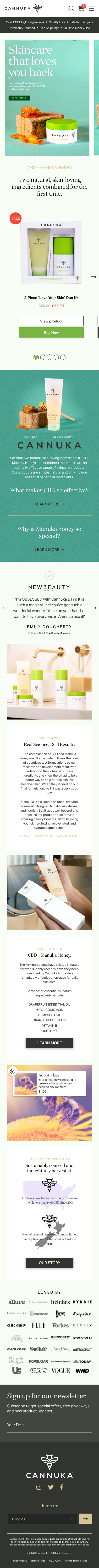Cannuka - Homepage (Mobile)