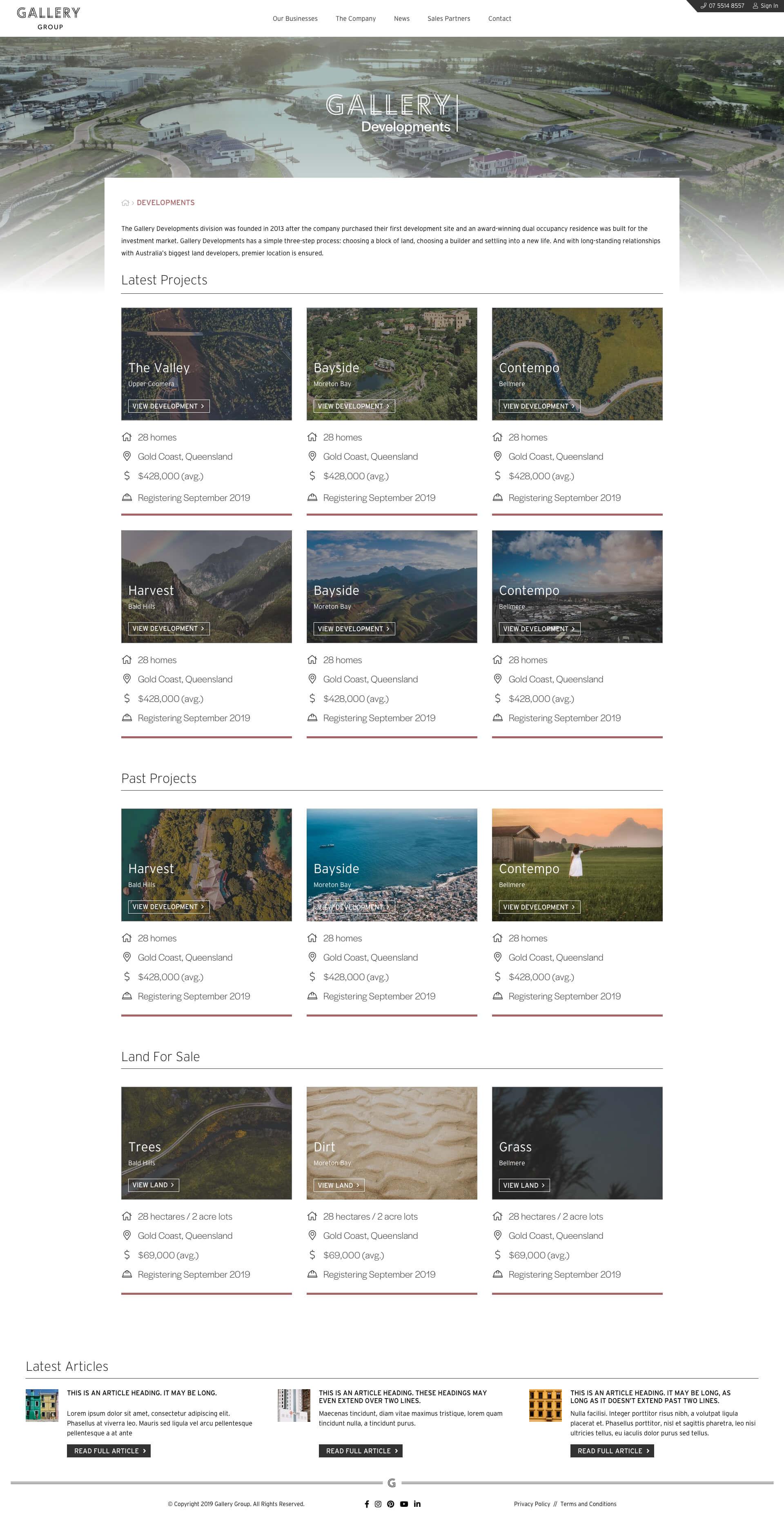 Gallery Group - Developments (Desktop)