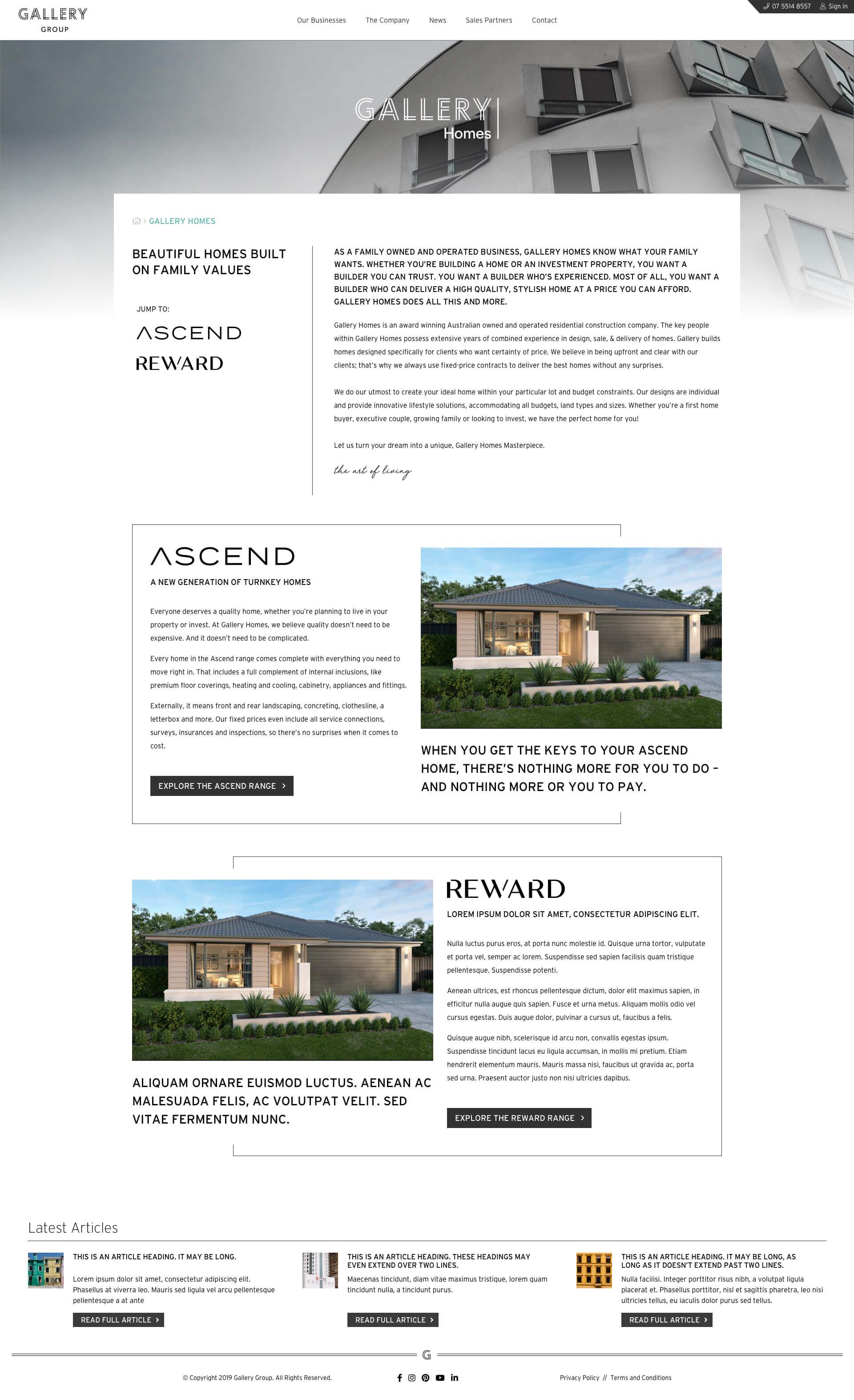 Gallery Group - Gallery Homes (Desktop)