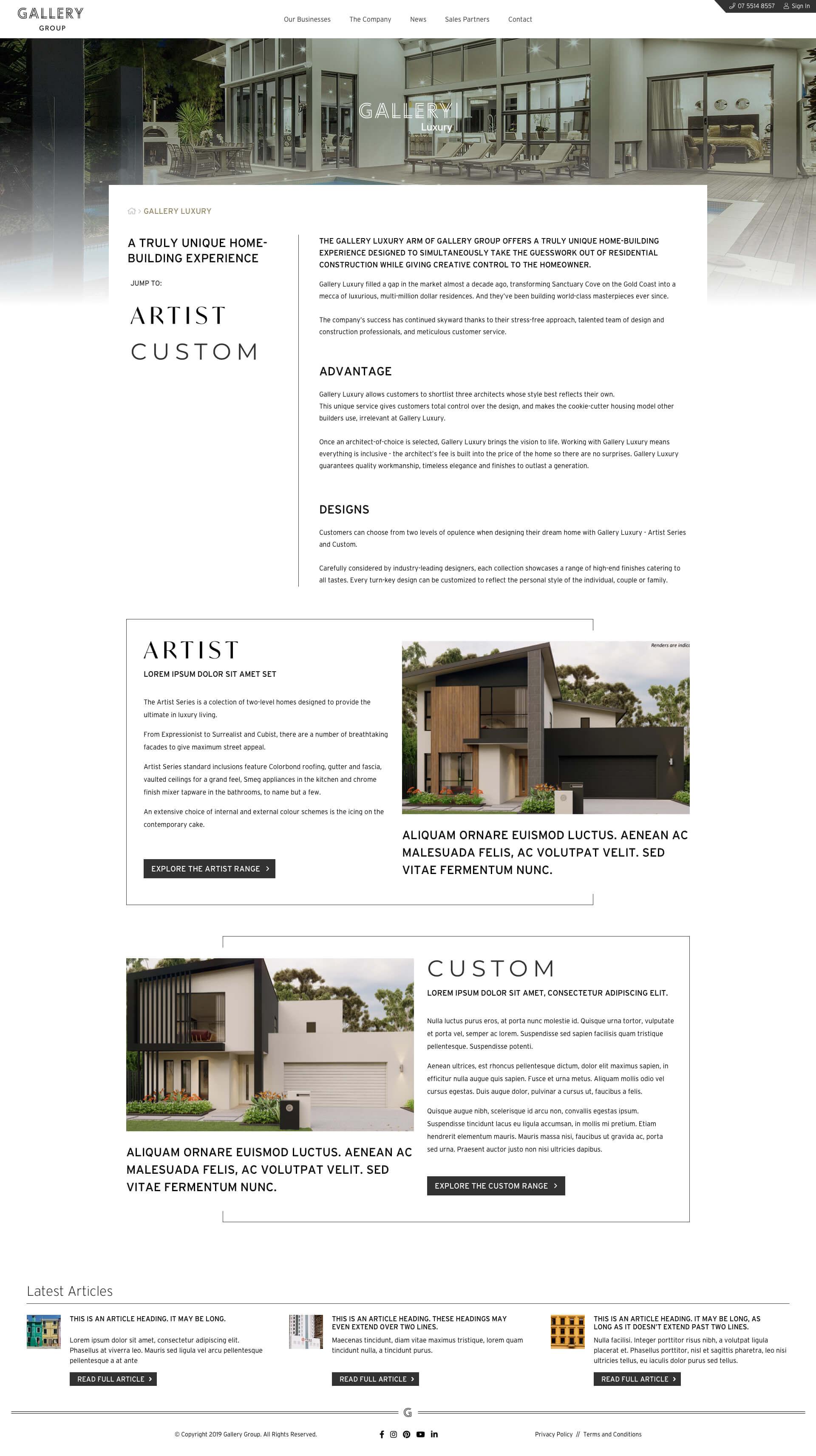 Gallery Group - Gallery Homes - Luxury Homes (Desktop)
