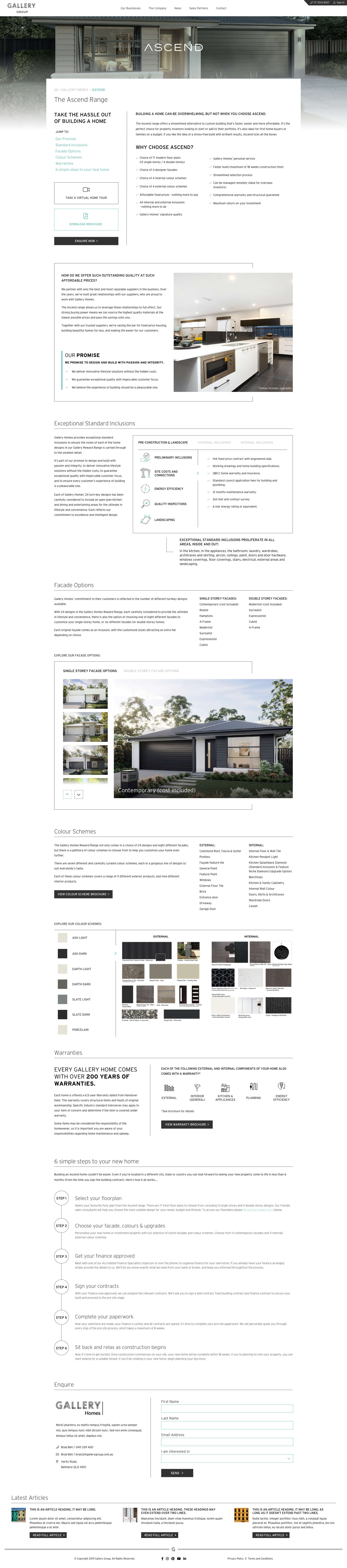 Gallery Group - Gallery Homes - Range (Desktop)