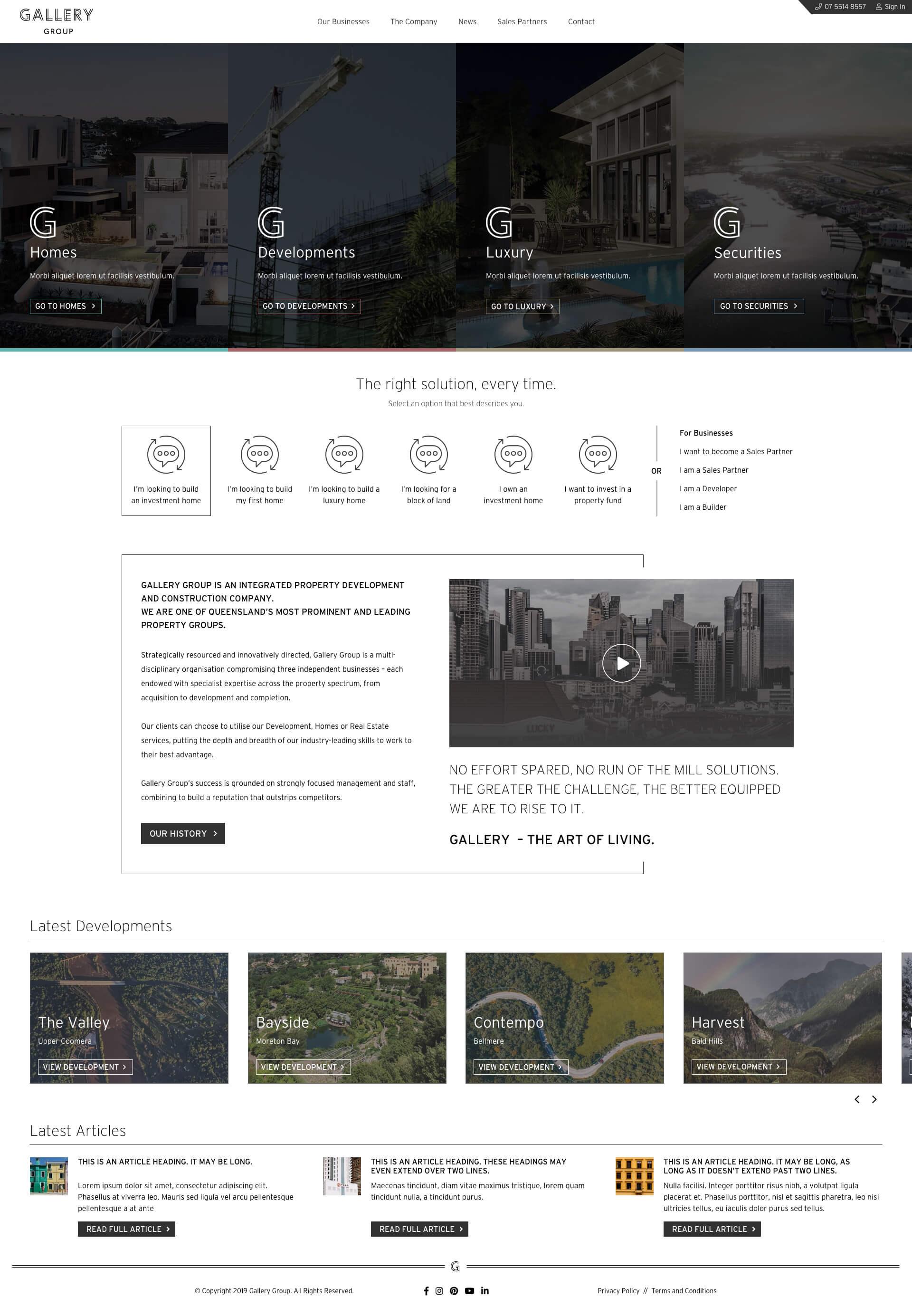 Gallery Group - Homepage (Desktop)