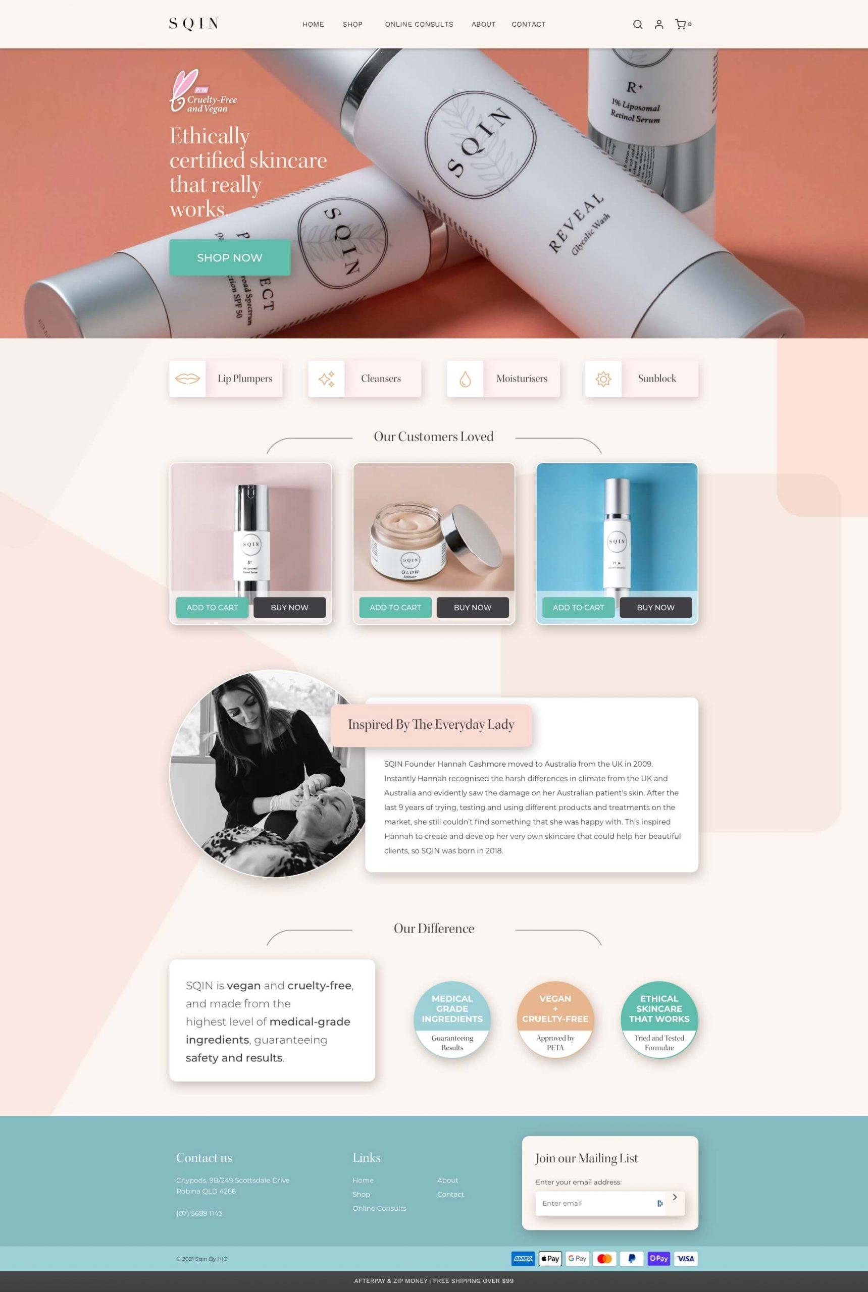 SQIN - Homepage (Desktop)