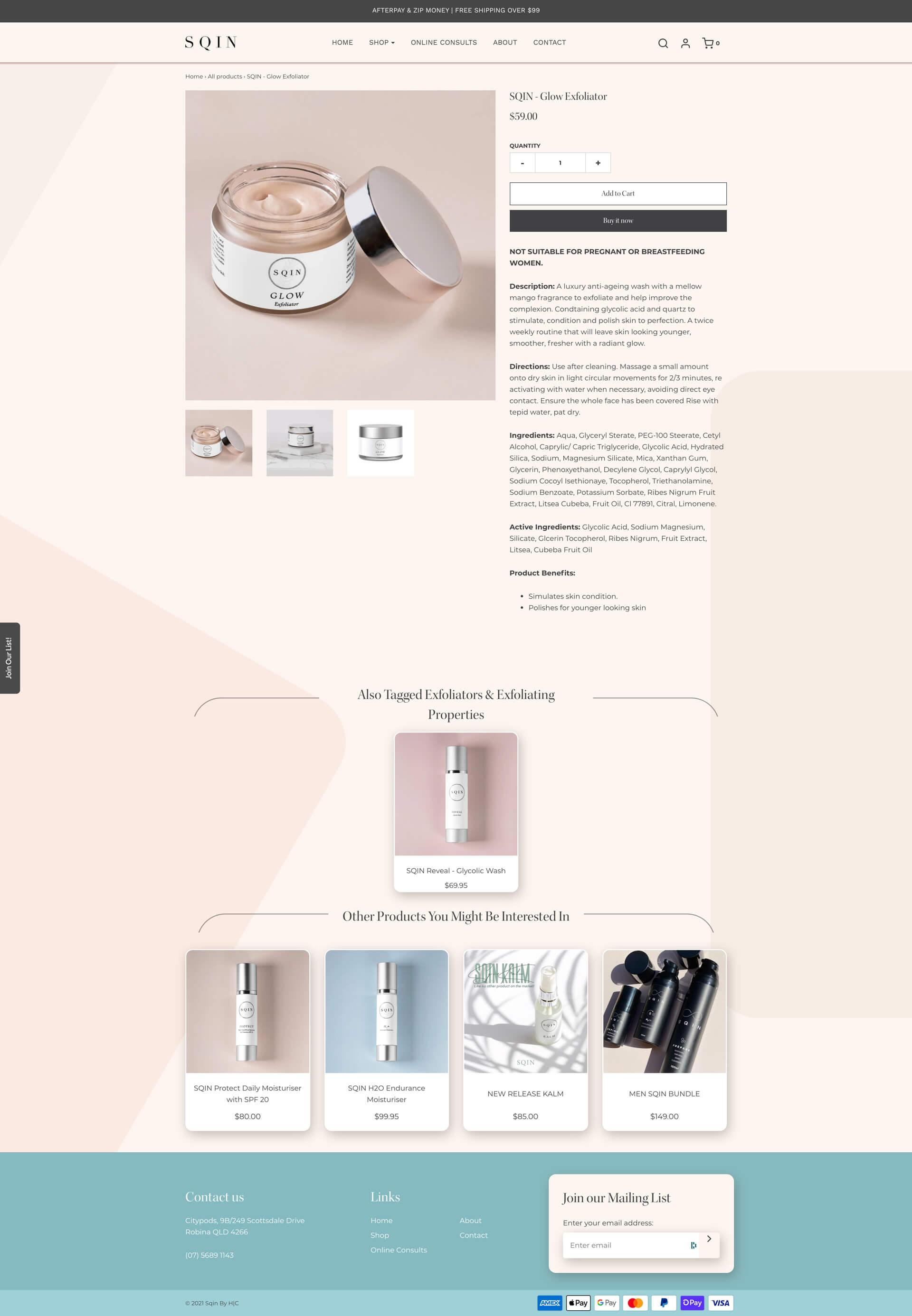 SQIN - Product Detail (Desktop)